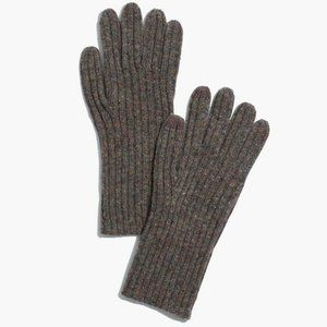 Madewell Ribbed Wool Texting Gloves in Castle Rock